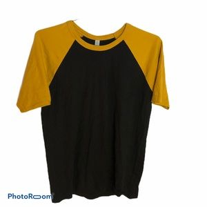 NEXT LEVEL gold black short sleeve shirt